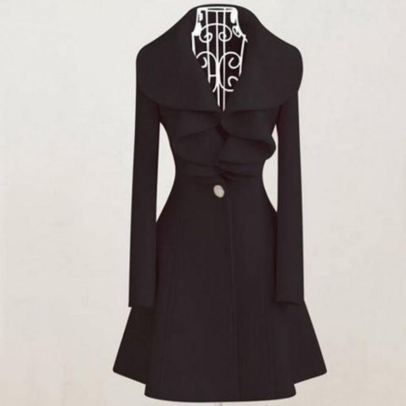 casaco longo feminino com cinto moda inverno chic moda e confortomoda e conforto. Black Bedroom Furniture Sets. Home Design Ideas