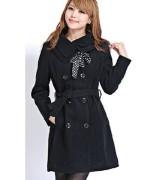 casaco longo feminino com cinto 8