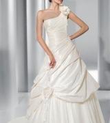 vestido de noiva um ombro 1