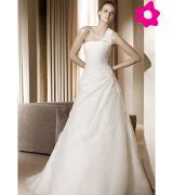 vestido de noiva um ombro 11