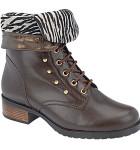 bota feminina cano curto marrom