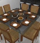 mesa de jantar 8 lugares 4
