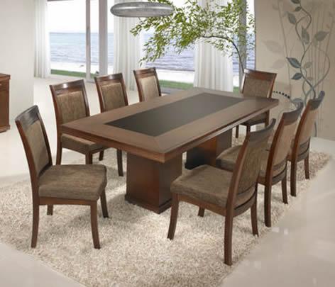 Mesas de jantar modernas 8 lugares