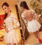 vestido curto de renda 12