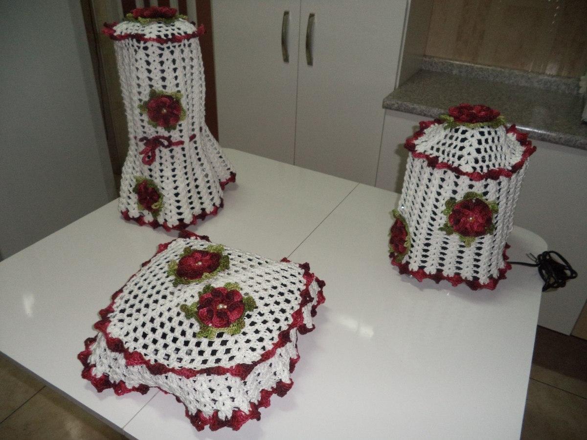 O Jogo De Croch Para Cozinha Que Voc Deve Conhecer Moda E  ~ Como Fazer Conjunto De Cozinha