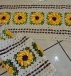 jogo de crochê para cozinha 5