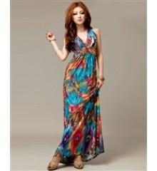 Loja de vestido longo casual