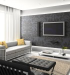 papel de parede em sala 1