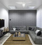 papel de parede cinza em sala 6