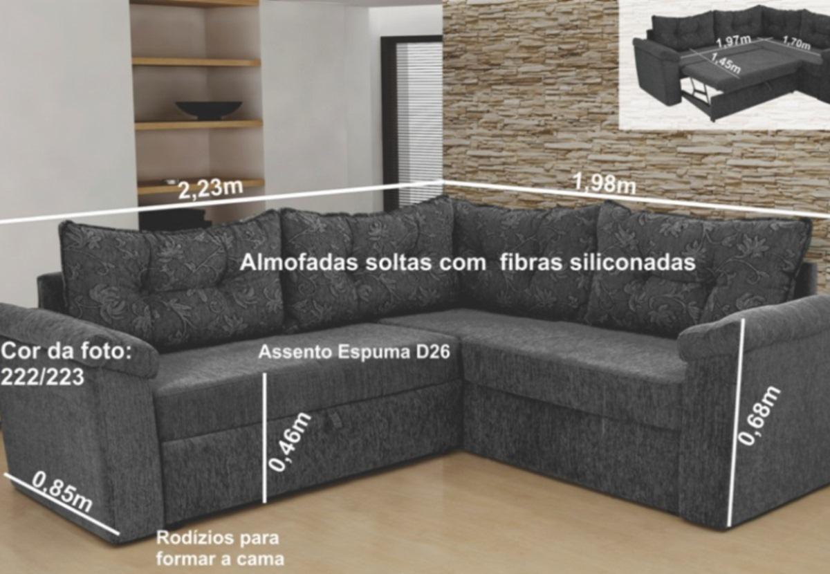 Sofa De Canto Moderno Furniture -> Estofados De Canto Confortavel Para Sala Pequena