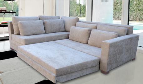 Conforto com sof cama de canto veja como moda e for Imagenes de sofa cama
