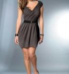 vestido cinza com cinto 9