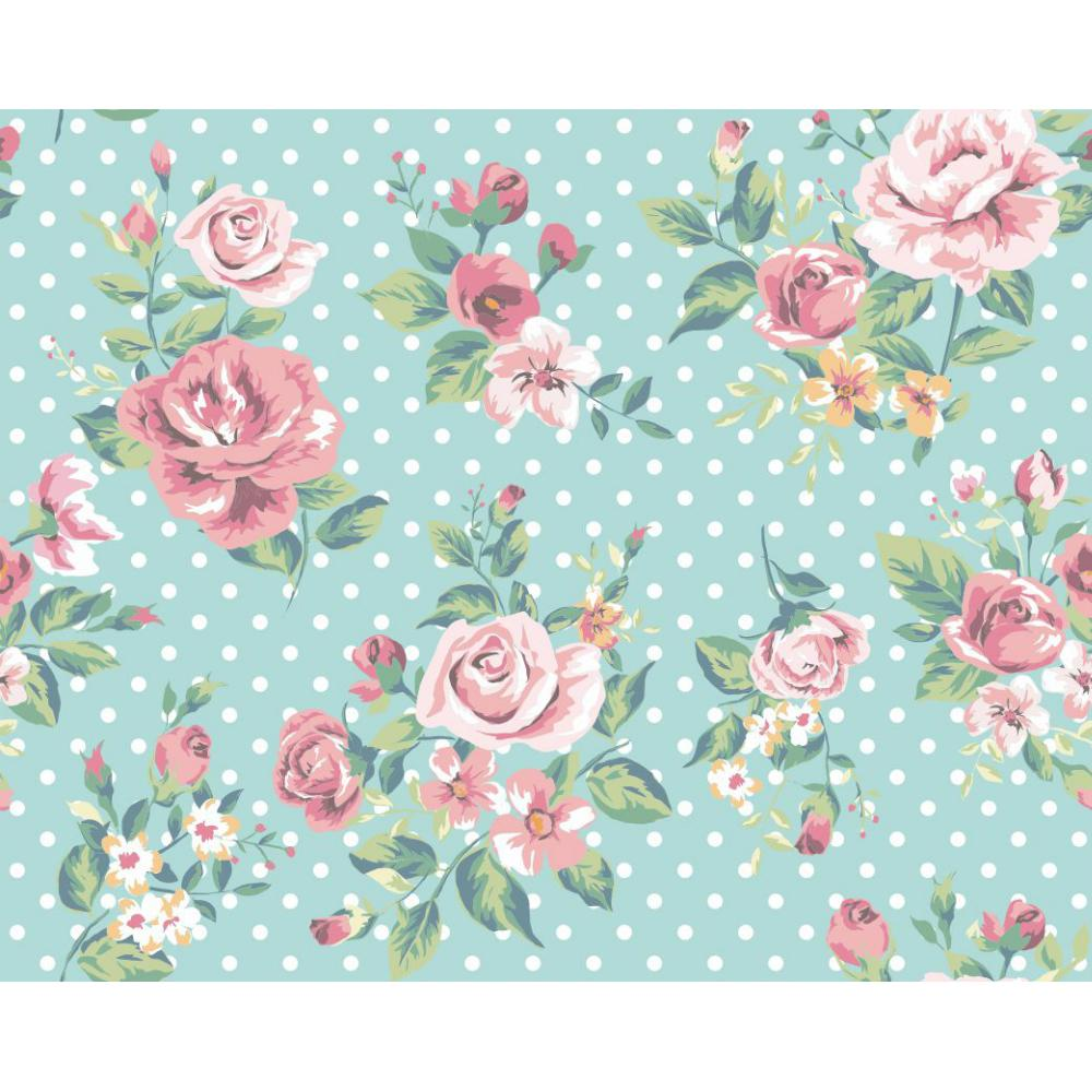 Papel De Parede Para Quarto Florido ~ encanto do papel de parede florido que contagia  Moda e
