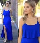 vestido longo azul com fenda 4