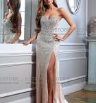 vestido longo prata com fenda 12