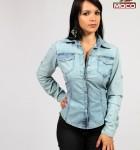 camisa jeans feminina manga longa 3