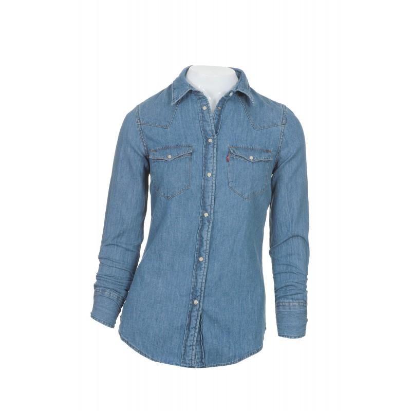 3ae9eb63e4 Camisa jeans feminina manga longa - look agradável - Moda e ...