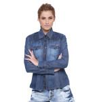 camisa jeans feminina manga longa 5