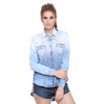 camisa jeans feminina manga longa 6