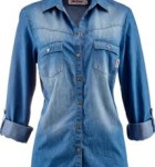 camisa jeans feminina manga longa 7
