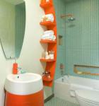 decoracao para banheiro colorido