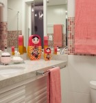 decoracao para banheiro em colorido