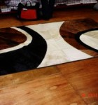 tapetes de couro diferente