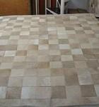 tapetes de couro quadriculado