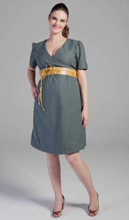 vestido gestante com cinto