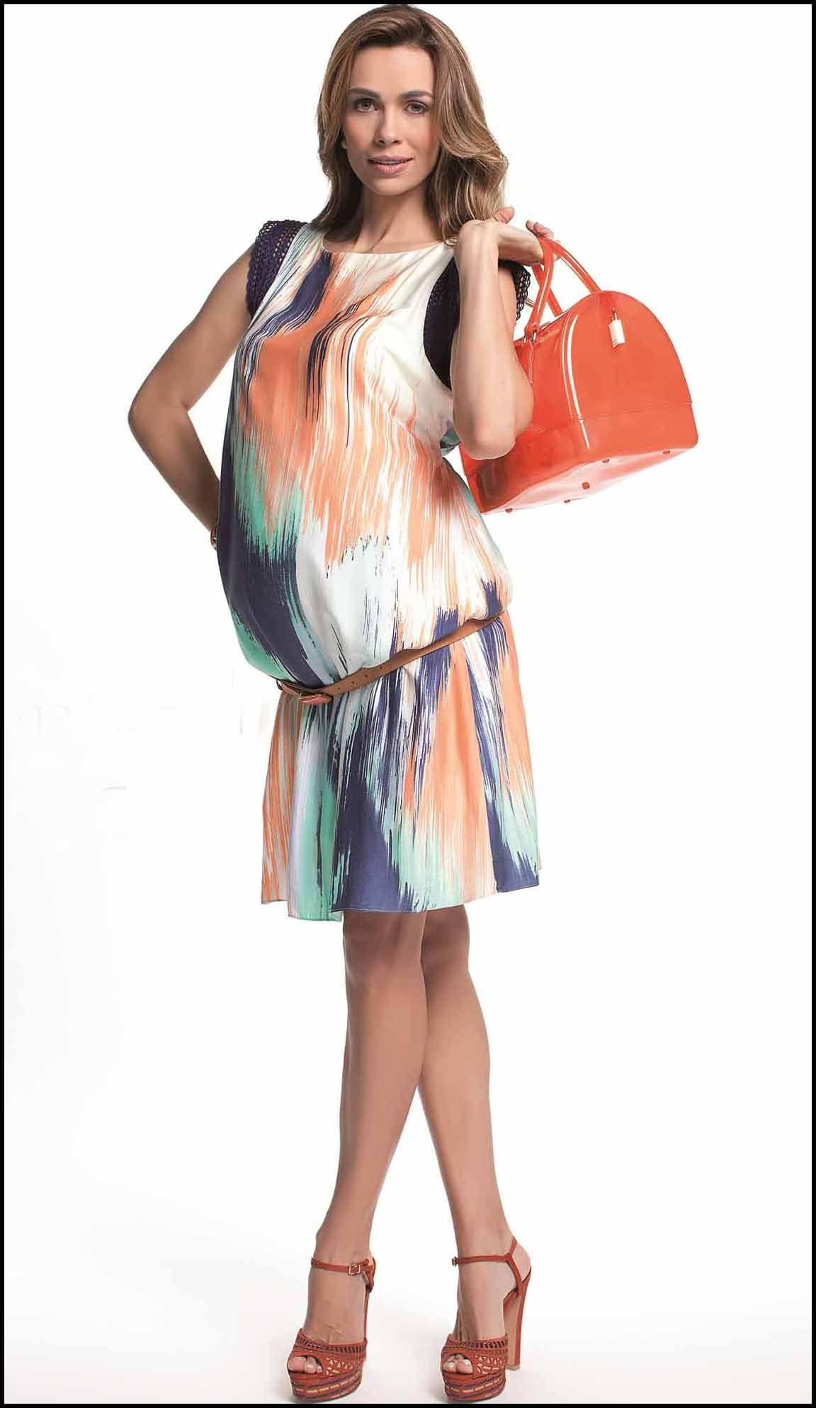 vestido gestante lindo com cinto