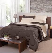 jogos de cama marrom com bege