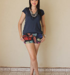look com camiseta colorida