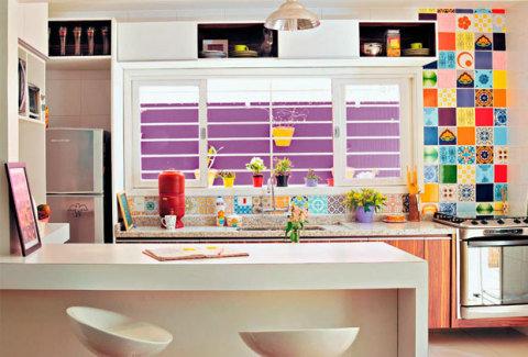 cozinhas pequenas coloridas 1