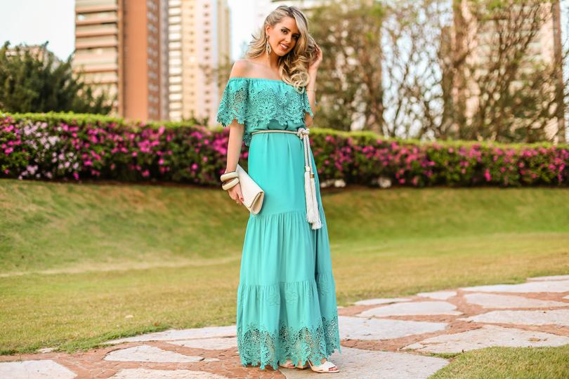 vestidos longos com renda para verao 3ª imagem
