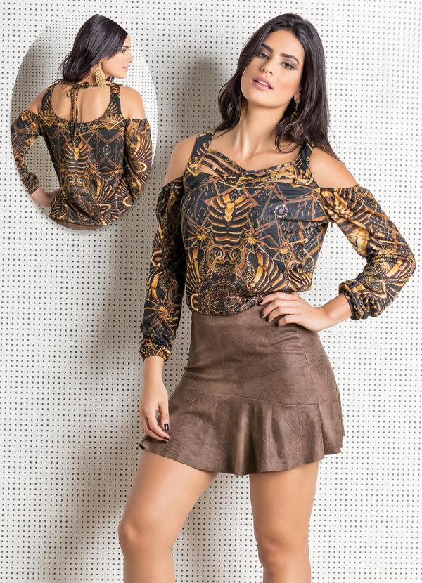blusa ciganinha chic