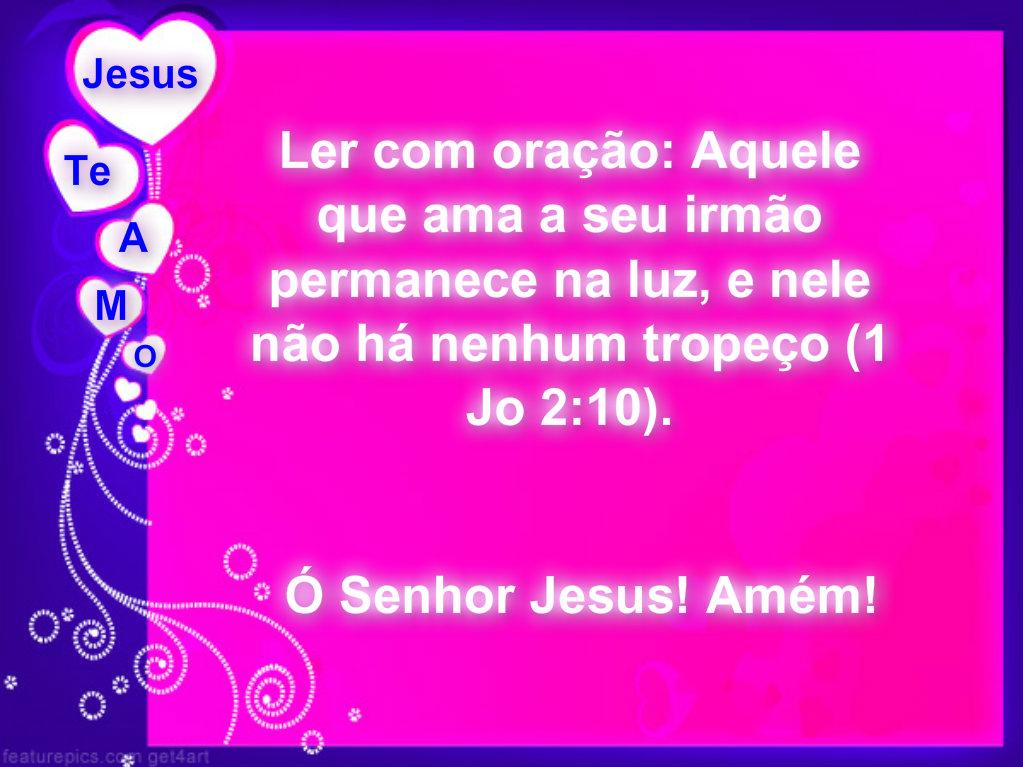 mensagem biblica de amor de luz