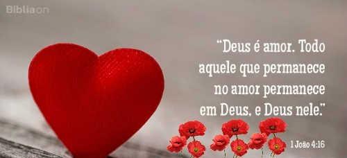 mensagem biblica de amor no coracao