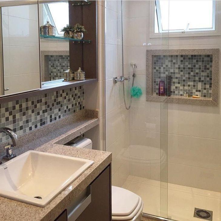 Artesanato De Natal Reciclado ~ nicho para banheiro ideia com conforto e belezaModa e Conforto