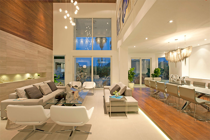 sala decorada dois ambientes