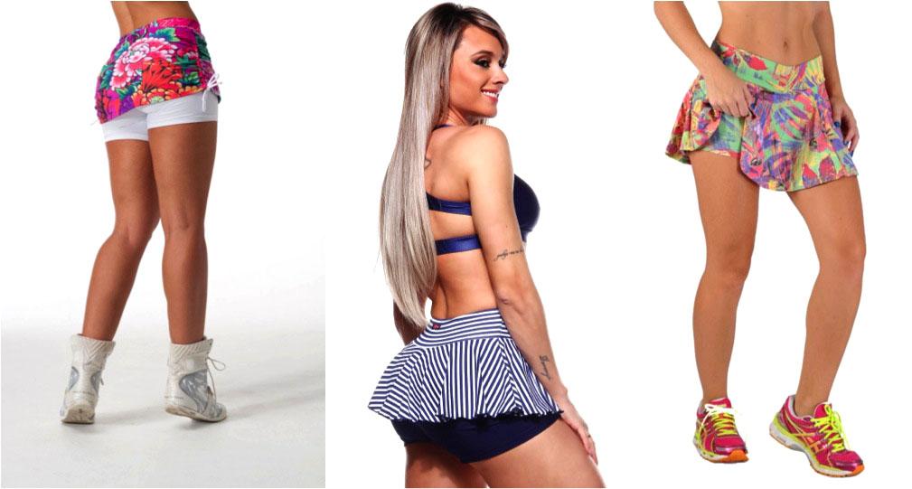 moda academia com shorts