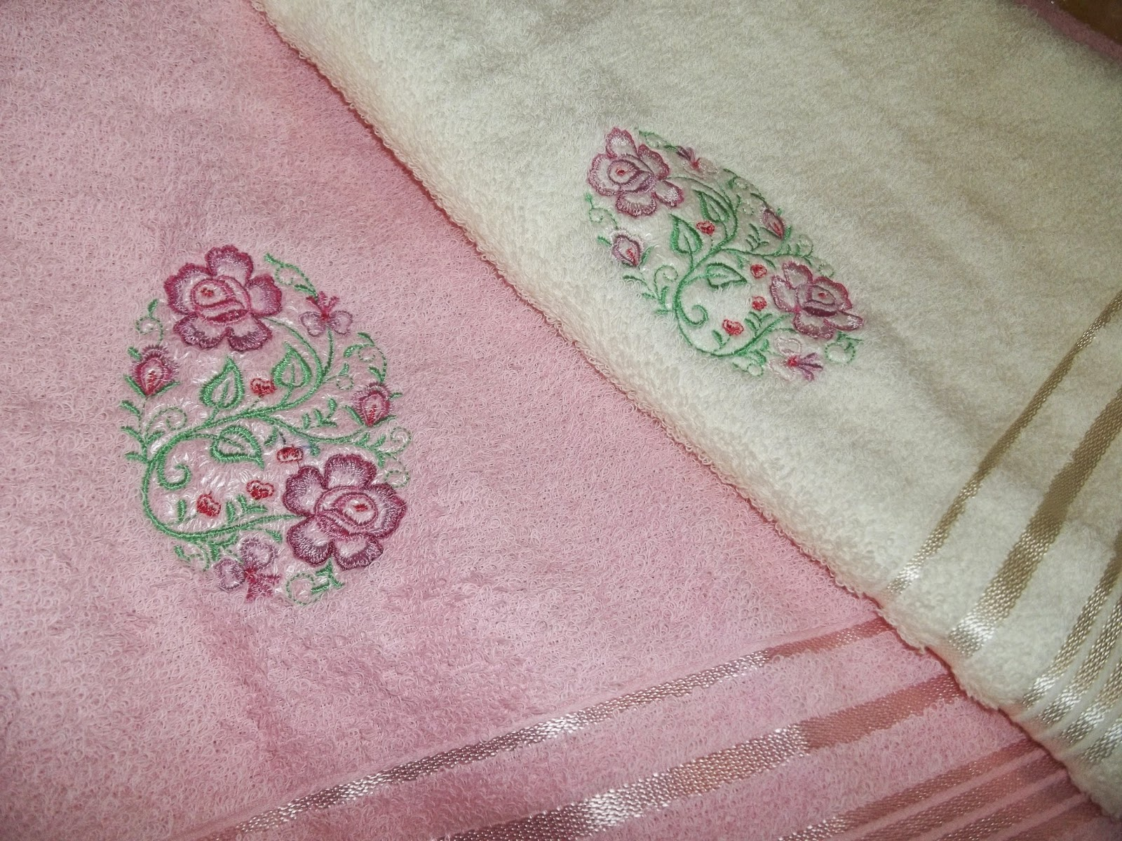 toalhas de banho bordadas a máquina