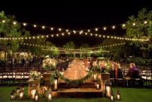 casamento ao ar livre a noite
