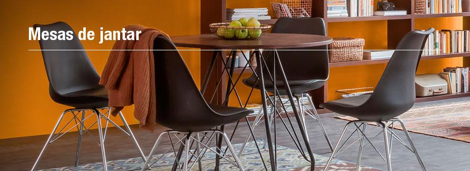 mesa cadeira escura de jantar 4 lugares