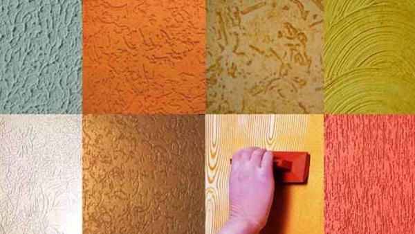 textura de cores em parede