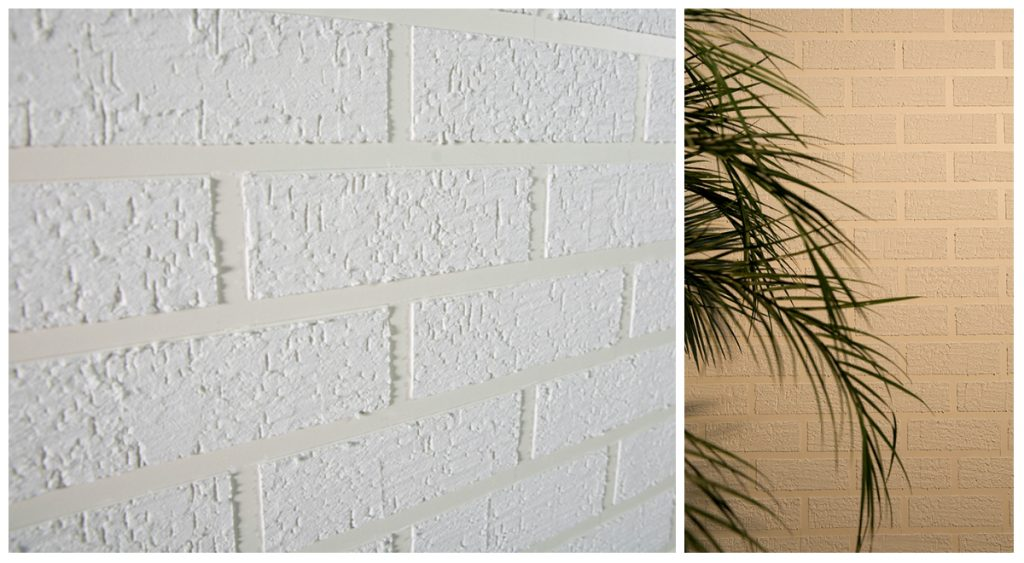 textura tijolinho em parede