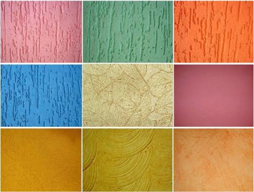 textura colorida em parede